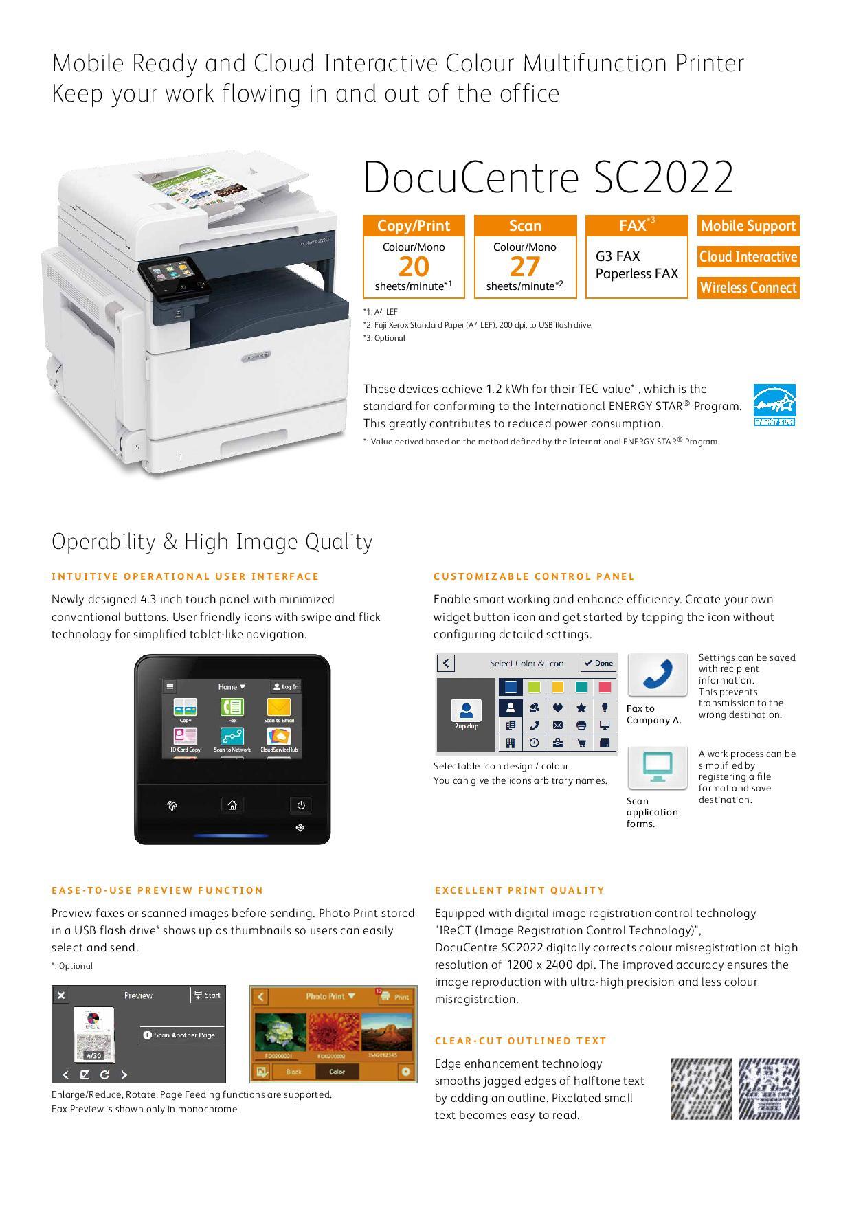 Fuji Xerox DocuCentre SC2022